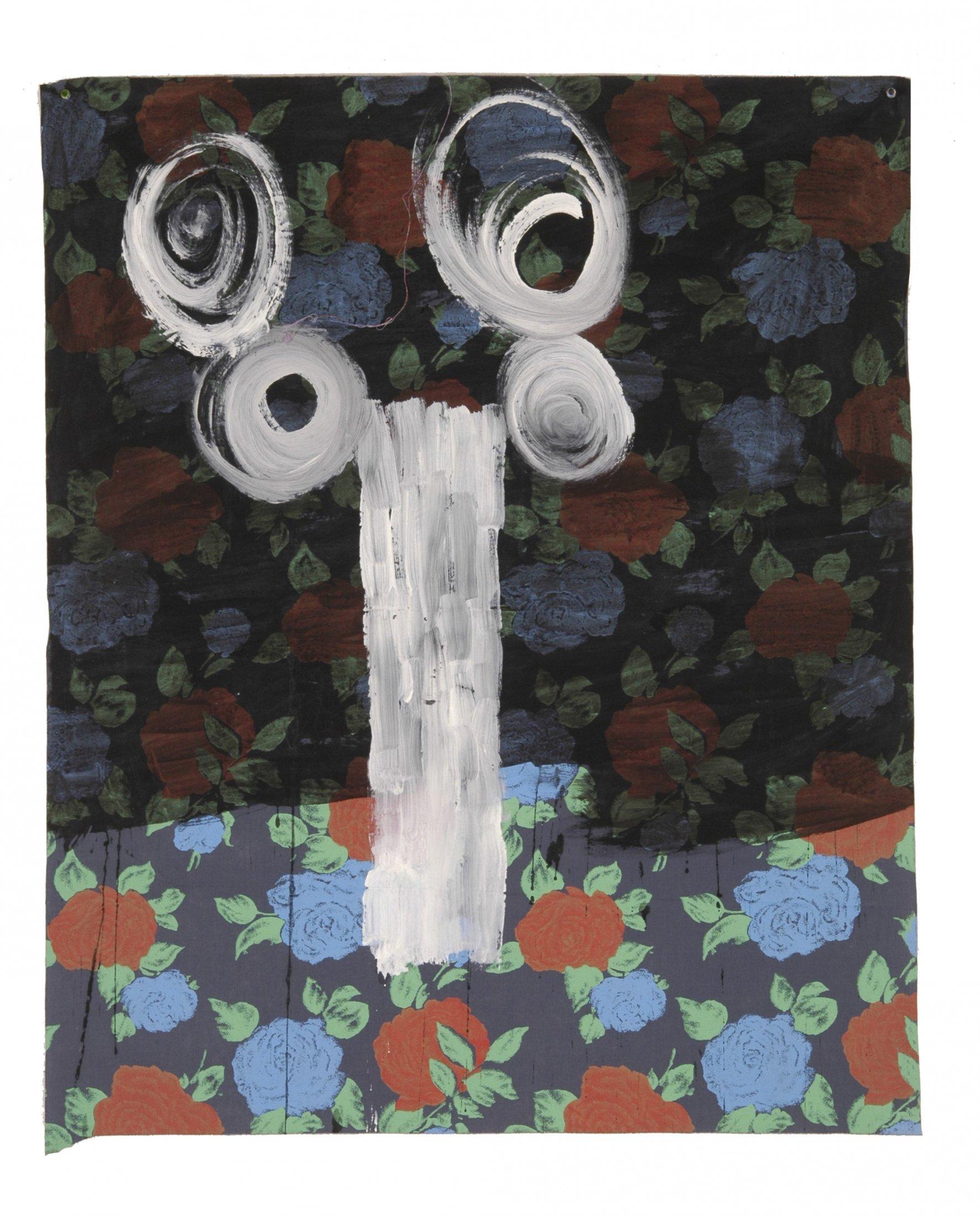 Fleur à la grecque,ouverture 2004 acrylique et encre de chin