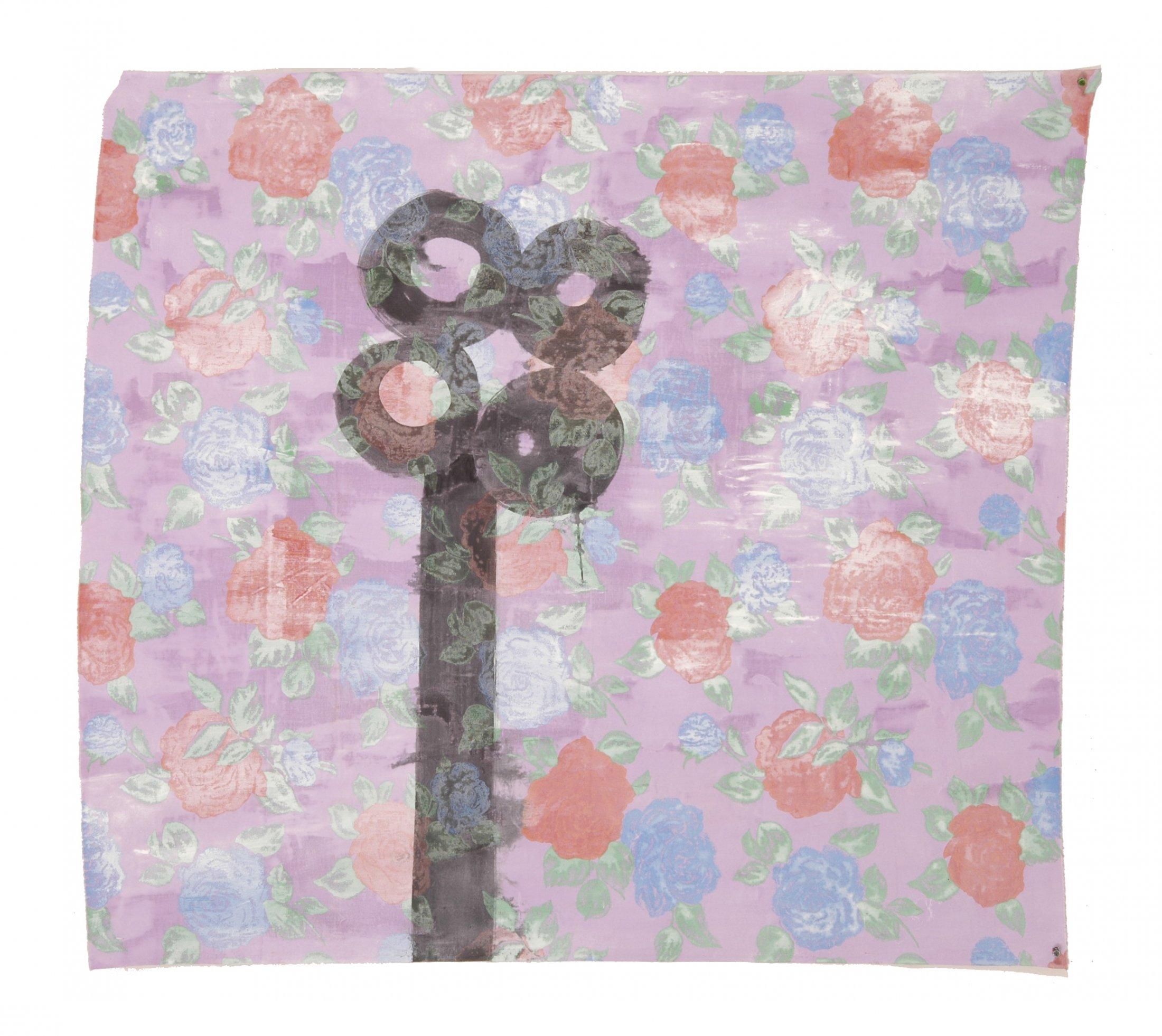 Noire et rosée matinale 2004 acrylique et encre de chine sur