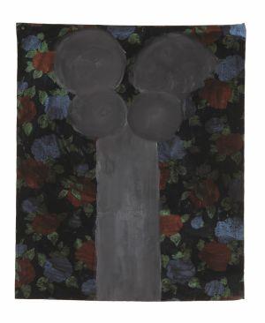 Fleur d'encre  2004 acrylique et encre de chine sur toile 10